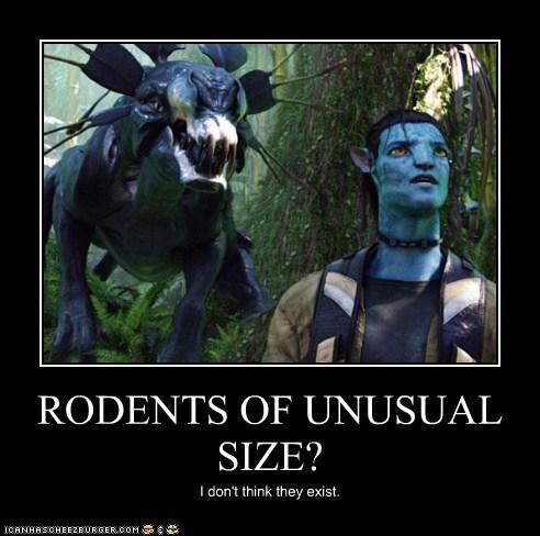 Avatar,i-dont-think-they-exist,jake sully,rodents,Sam Worthington,size,thanator,the princess bride,unusual