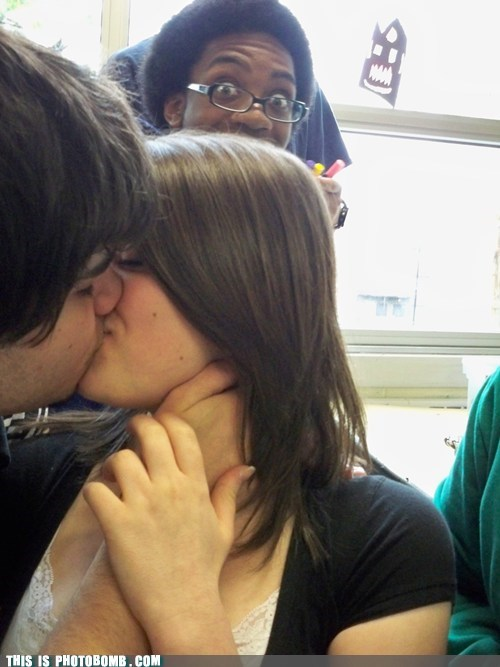 Awkward,chillin,couple,kissing,makeout