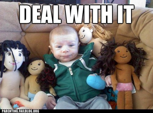 Parenting Fails: He Gets All the Dolls