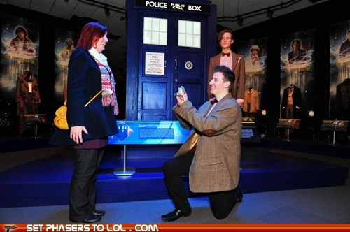Matt Smith Proposes at the Doctor Who Experience.