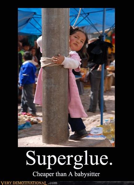 baby sitter,cheap,hilarious,super glue