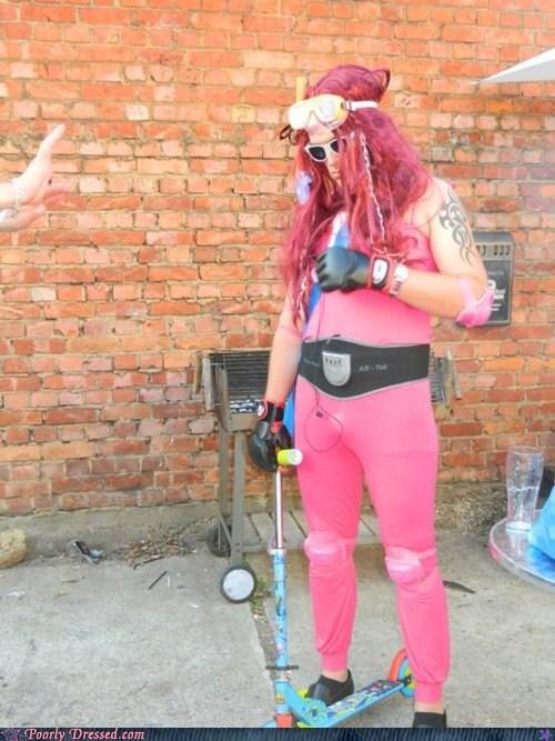 bodysuit,disco,pink,scooter,terror