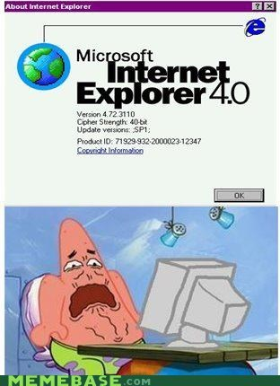 4,explorer,internet,patrick,pushing patrick,SpongeBob SquarePants