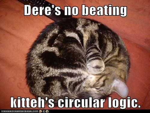 Dere's no beating  kitteh's circular logic.