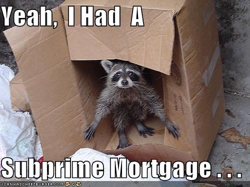 Yeah,  I Had  A  Subprime Mortgage . . .