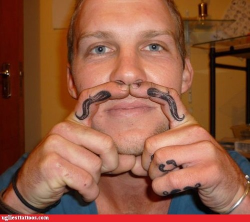 A mustache for every finger!