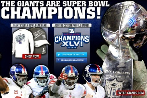 Super Bowl XLVI: Giants 21 - Patriots 17