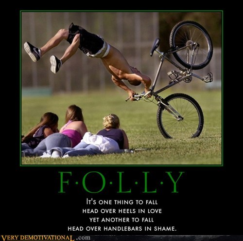 accident,bike,falling,folly,hilarious,love