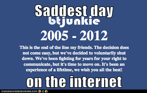 Saddest day   on the internet