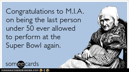 Congratulations to M.I.A.