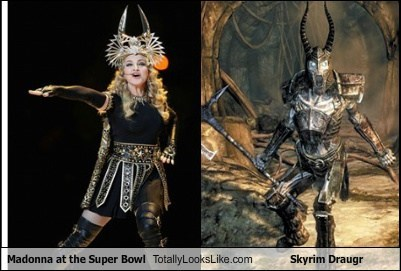 Madonna at the Super Bowl Totally Looks Like Skyrim Draugr