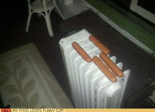 bachelor,cooking,hot dogs,not quite,radiator