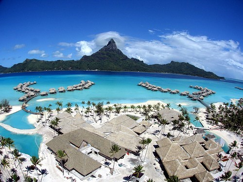 View from Above, Bora Bora, French Polynesia