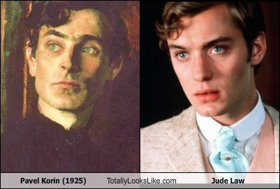 Pavel Korin (1925) Totally Looks Like Jude Law