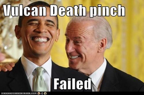 barack obama,democrats,joe biden,political pictures,Vulcans