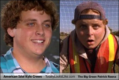 American Idol Kyle Crews Totally Looks Like The Big Green Patrick Reena