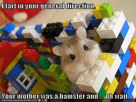 I fart in your general direction.  Your mother was a hamster and ... oh wait
