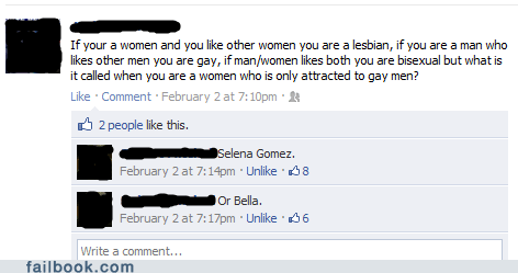 Failbook: Questioning Sexuality