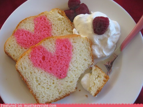 cake,epicute,heart,pink,surprise,Valentines day
