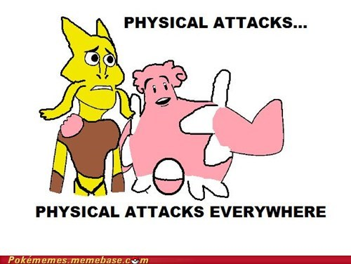 alakazam,chansey,defensive wall,meme,Memes,physical attacks,substitute