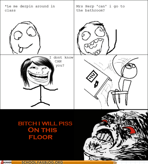 bathroom,can i,gotta go,grammar,may I,rage comic,teacher