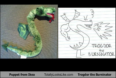 Puppet from Ikea Totally Looks Like Trogdor the Burninator