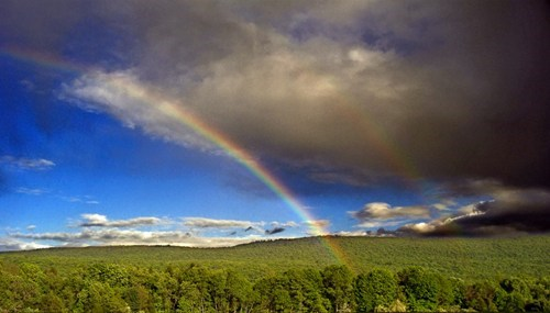 Rainbows Departing from Storm Clouds, Sussex County, New Jersey