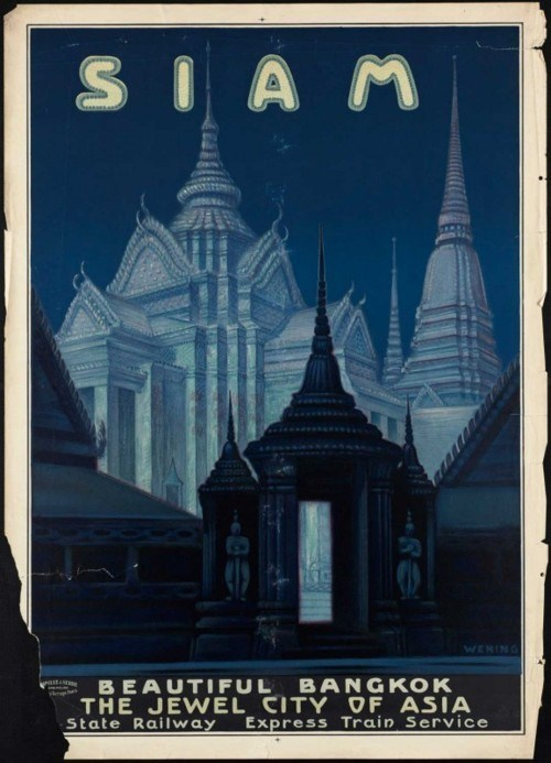 Jewel City of Asia Vintage Travel Poster