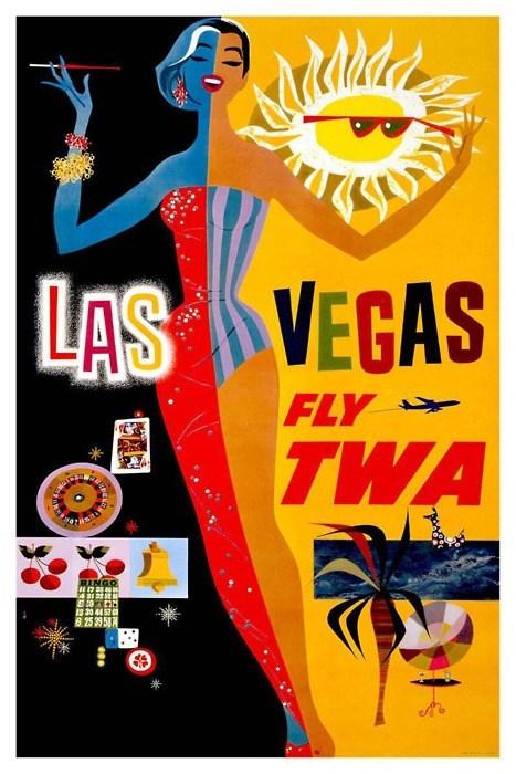 Las Vegas via TWA Vintage Poster