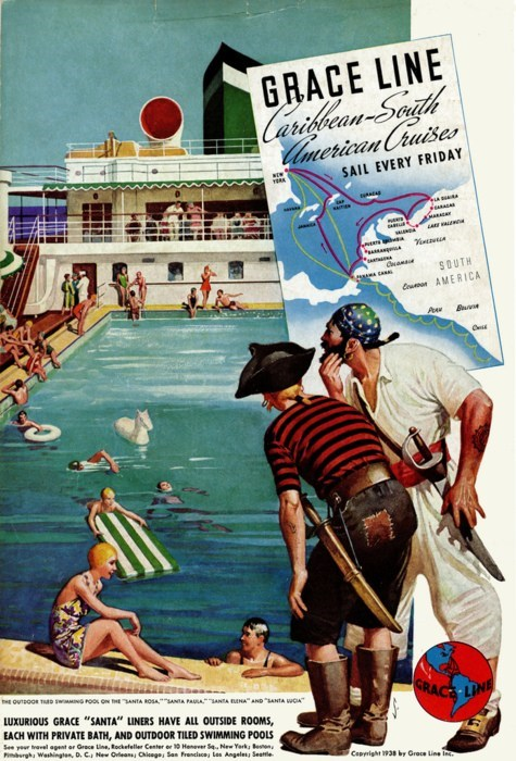 caribbean,cruise,getaways,retro travel,south america,vintage travel