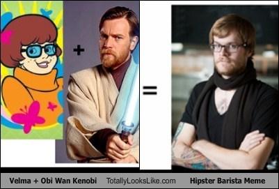 Velma + Obi Wan Kenobi Totally Looks Like Hipster Barista Meme