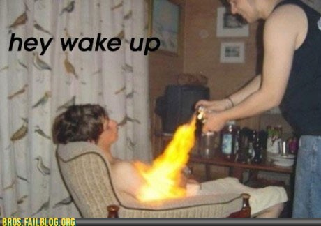 flamethrower,play with me,wake up
