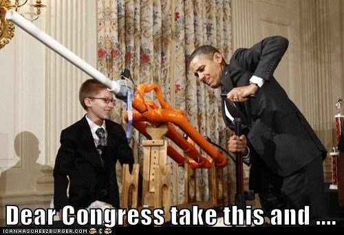 barack obama,Congress,democrats,marshmallow cannon,political pictures