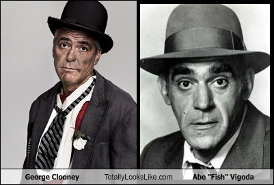 "George Clooney Totally Looks Like Abe ""Fish"" Vigoda"