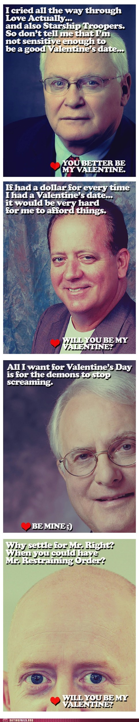 Dating Fails: Valentines From The Guy Who Watches You Sleep
