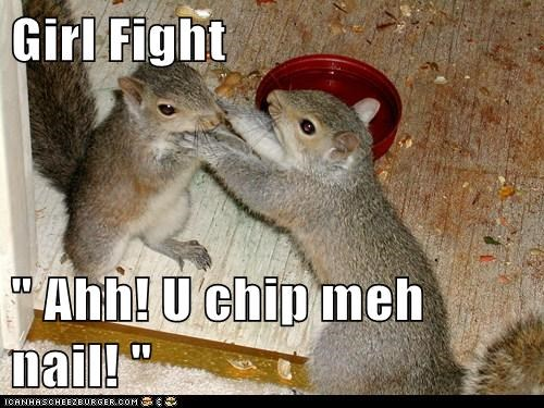 "Girl Fight  "" Ahh! U chip meh nail! """