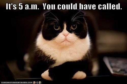 It's 5 a.m.