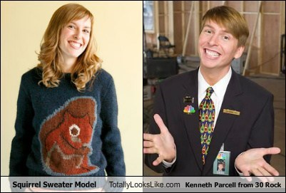 Squirrel Sweater Model Totally Looks Like Kenneth Parcell from 30 Rock