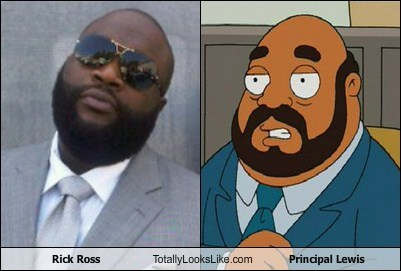 Rick Ross Totally Looks Like Principal Lewis