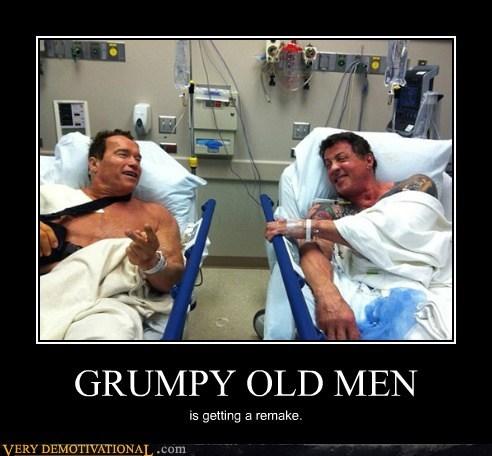 grumpy,old men,schwartzenegger,sly stalone,Terrifying