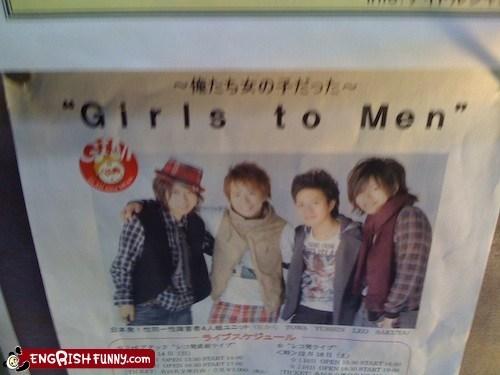 band,flyer,girls to men,Music