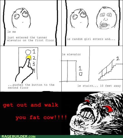 best of week,elevator,Rage Comics,raisin rage,stairs