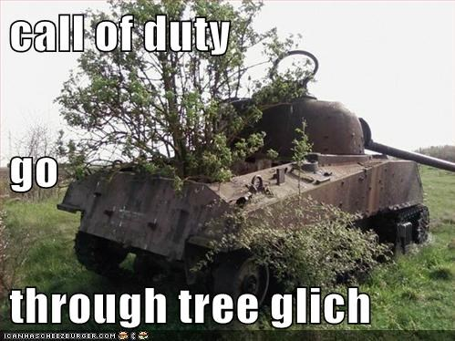 call of duty go through tree glich