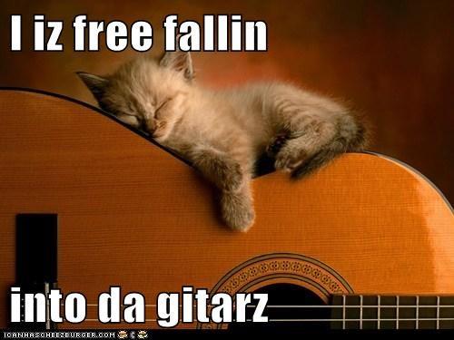 I iz free fallin  into da gitarz