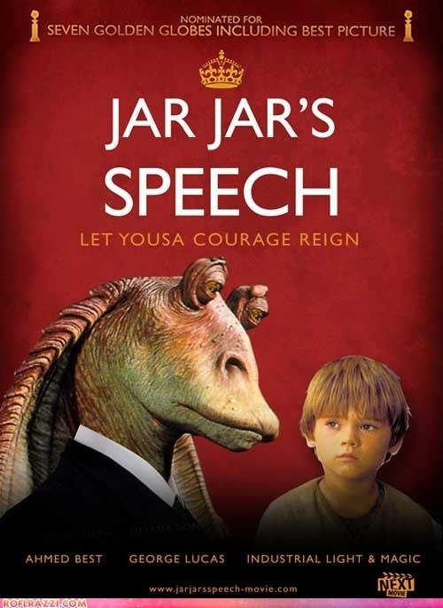 funny,jar jar binks,Movie,shoop,star wars,the-kings-speech