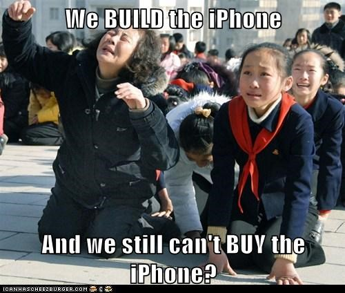 apple,iphone,North Korea,political pictures