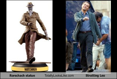 Rorschach statue Totally Looks Like Strutting Leo