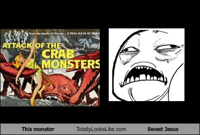 This Crab Monster Totally Looks Like Sweet Jesus Meme