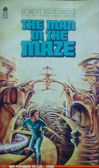 book covers,books,cover art,man,maze,science fiction,wall,wtf