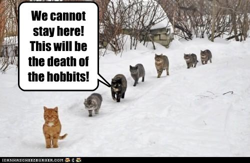We cannot stay here! This will be the death of the hobbits!